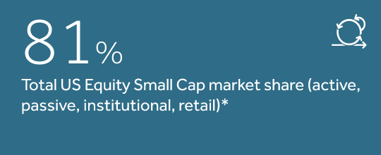 81% total US equity small cap market share