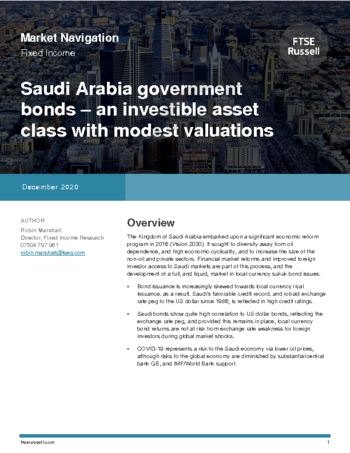 Saudi Arabia government bonds; an investible asset class with modest valuations