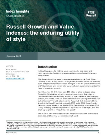 Russell Growth and Value indexes: the enduring utility of style