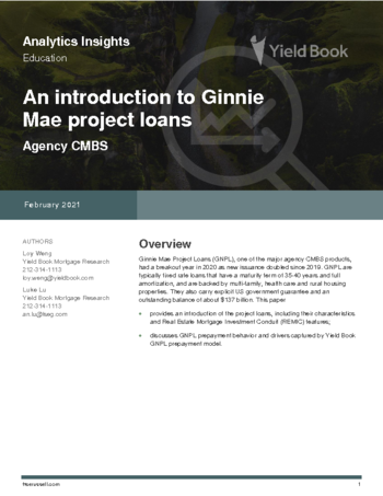 An Introduction to Ginnie Mae Project Loans
