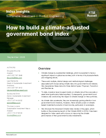 How to build a climate-adjusted government bond index
