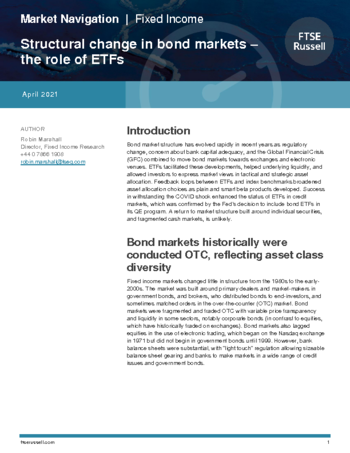 Structural change in bond markets ‒ the role of ETFs