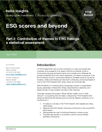 ESG scores and beyond - Part 2