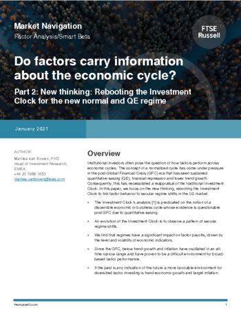 Do factors carry information about the economic cycle? - Part 2