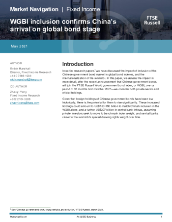 WGBI inclusion confirms China's arrival on global bond stage