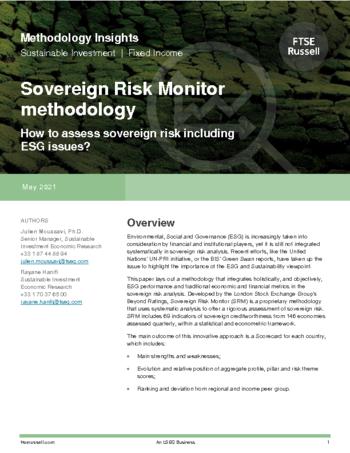 Sovereign Risk Monitor methodology
