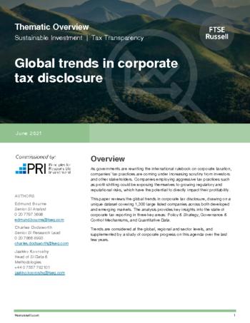 Global Trends in Corporate Tax Disclosure