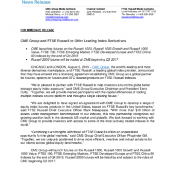 Press releases | FTSE Russell