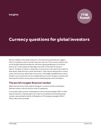 Currency questions for global investors