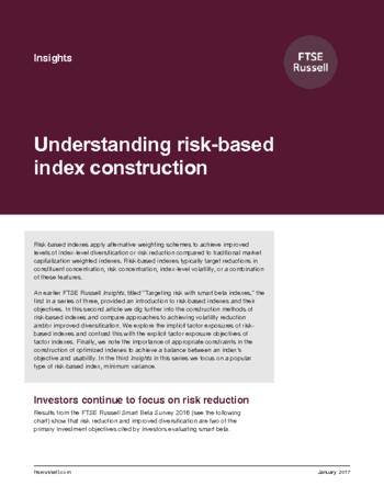 Understanding risk-based index construction