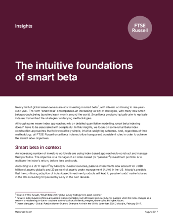 The intuitive foundations of smart beta
