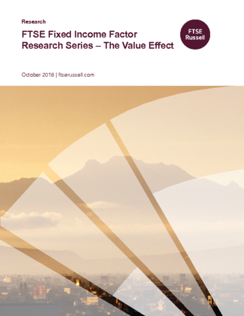 Fixed Income Factor Research Series - The Value Effect