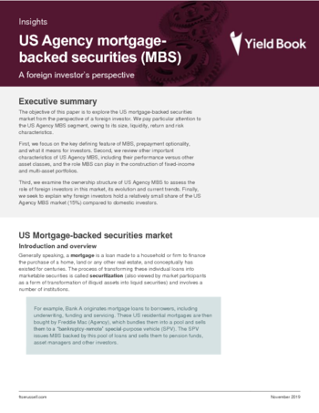 US Agency mortgage-backed securities (MBS)