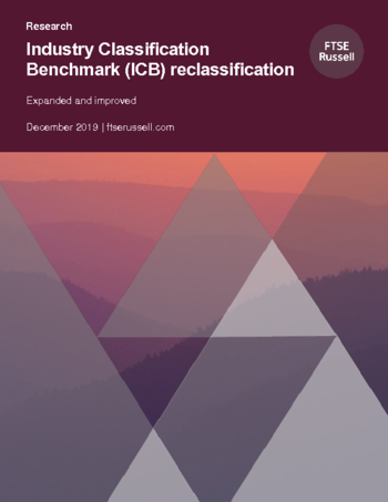 Industry Classification Benchmark (ICB) reclassification