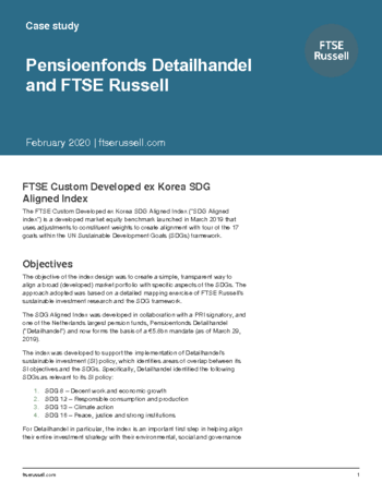 Case study - Pensioenfonds Detailhandel and FTSE Russell