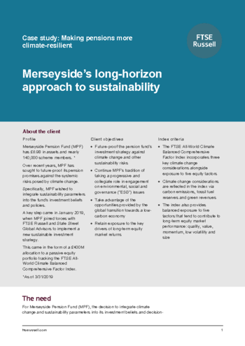 Case study - Making pensions more climate-resilient