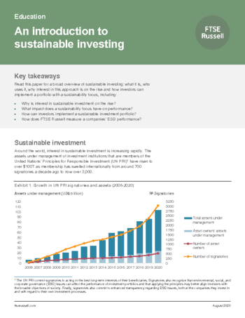 An introduction to sustainable investment