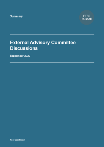 External Advisory Committee Discussions – September 2020