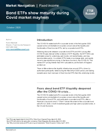 Bond ETFs show maturity during Covid market mayhem