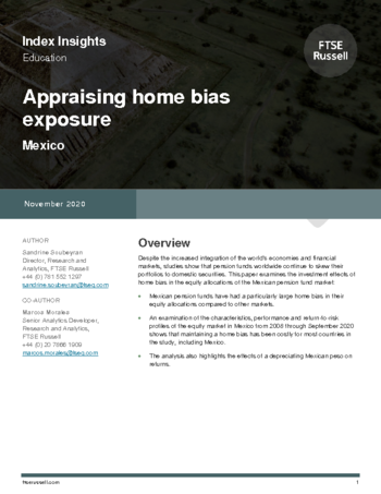 Appraising home bias exposure - Mexico