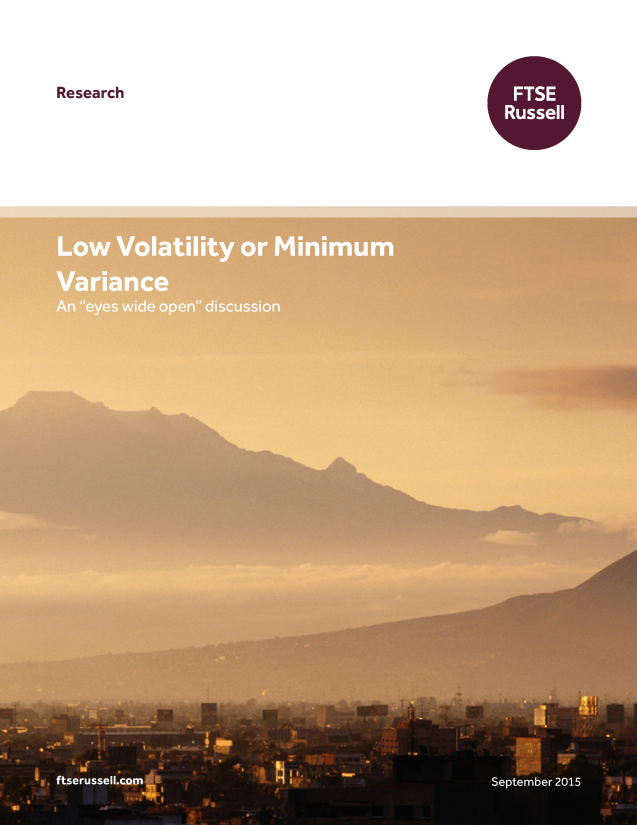 """Low Volatility or Minimum Variance: An """"eyes wide open"""" discussion"""