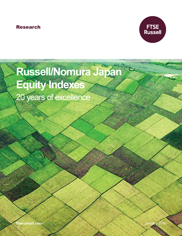 Russell/Nomura Japan Equity Indexes: 20 years of excellence