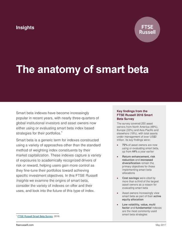 The anatomy of smart beta