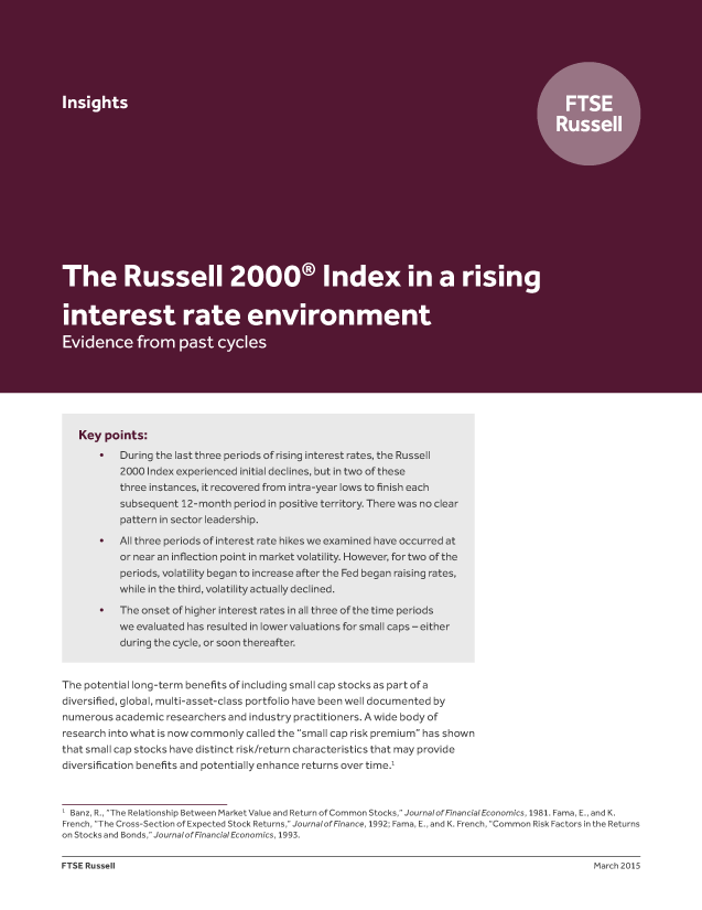 The Russell 2000 Index in a rising interest rate environment - Evidence from past cycles