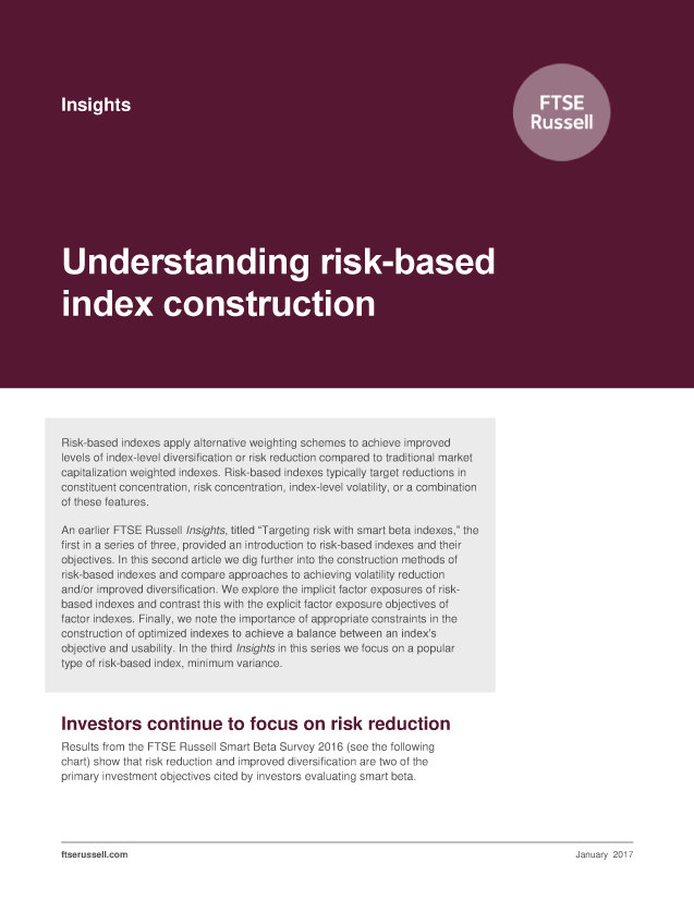 Understanding risk-based index construction