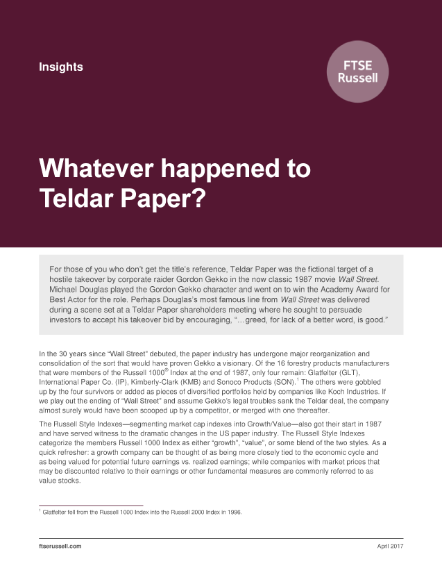 Whatever happened to Teldar Paper?